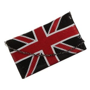 🇬🇧🆕  Union Jack ✪ Metal Mesh Clutch Bag ✪ Black